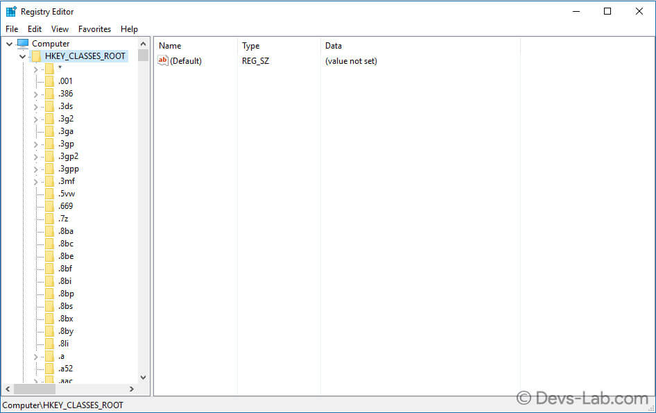 Registry editor Windows 10/8/8.1