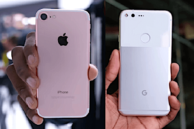 iPhone 7 vs Pixel in design