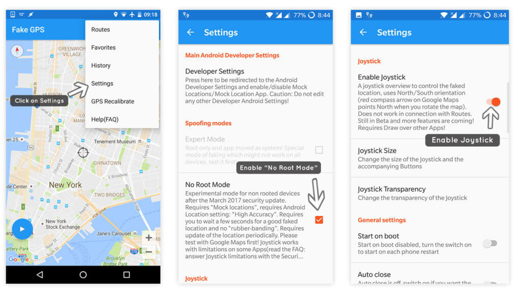 How to Enable Pokemon GO Fake GPS No Root Mode and Joystick