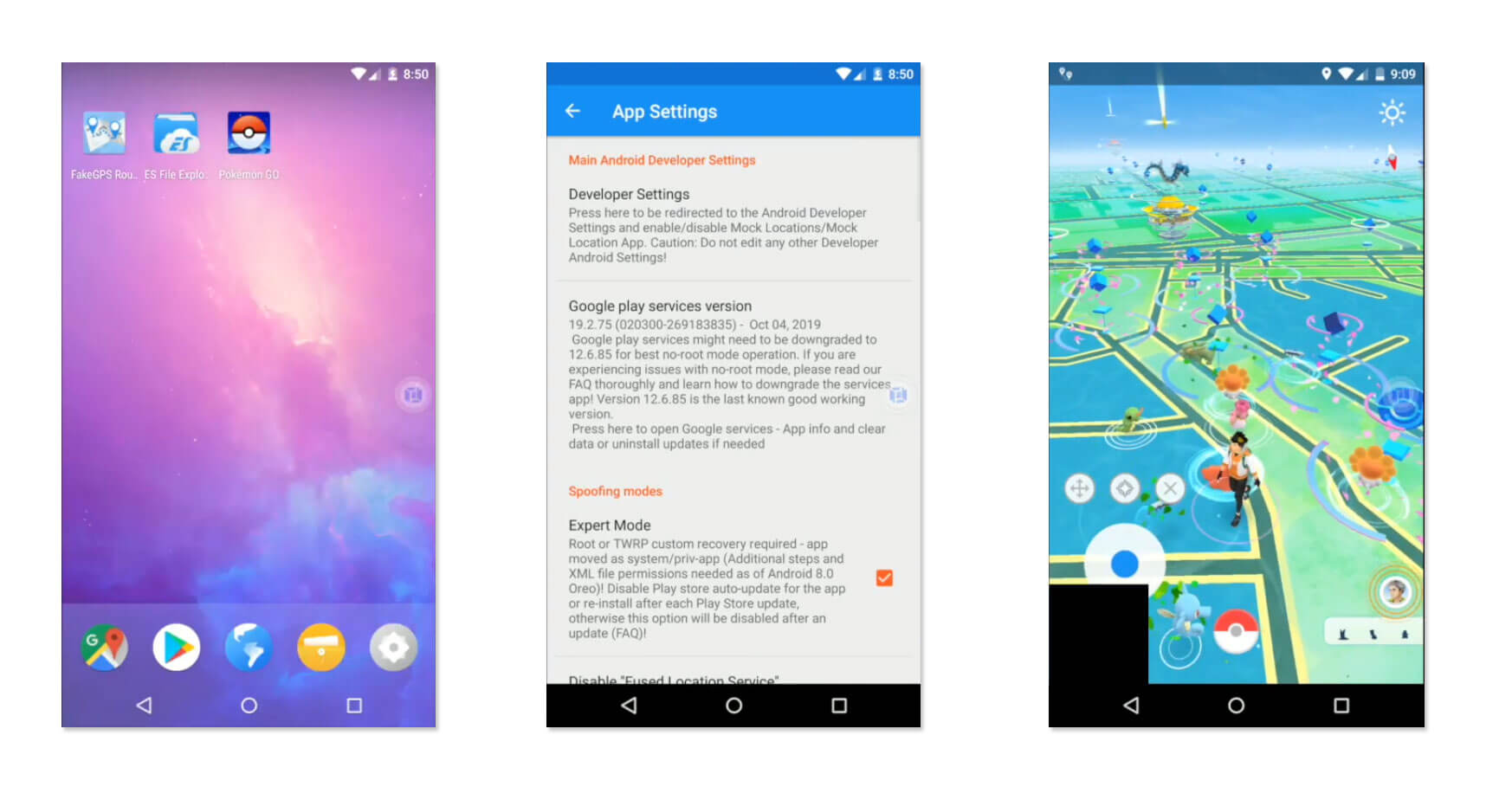 How to use Pokemon GO GPS Spoofing on Android 10 without Rooting