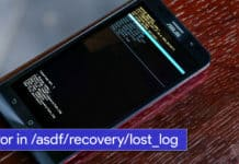 Solved error in /asdf/recovery/lost_log in Android