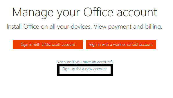 Signup for a free Microsoft Office online Genuine copy
