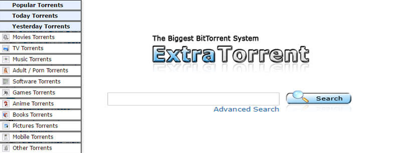 Extra Torrent - Best Torrent websites of 2017
