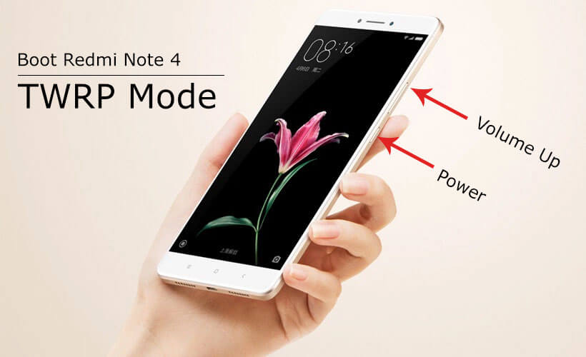 How to boot Redmi Note 4 in TWRP recovery