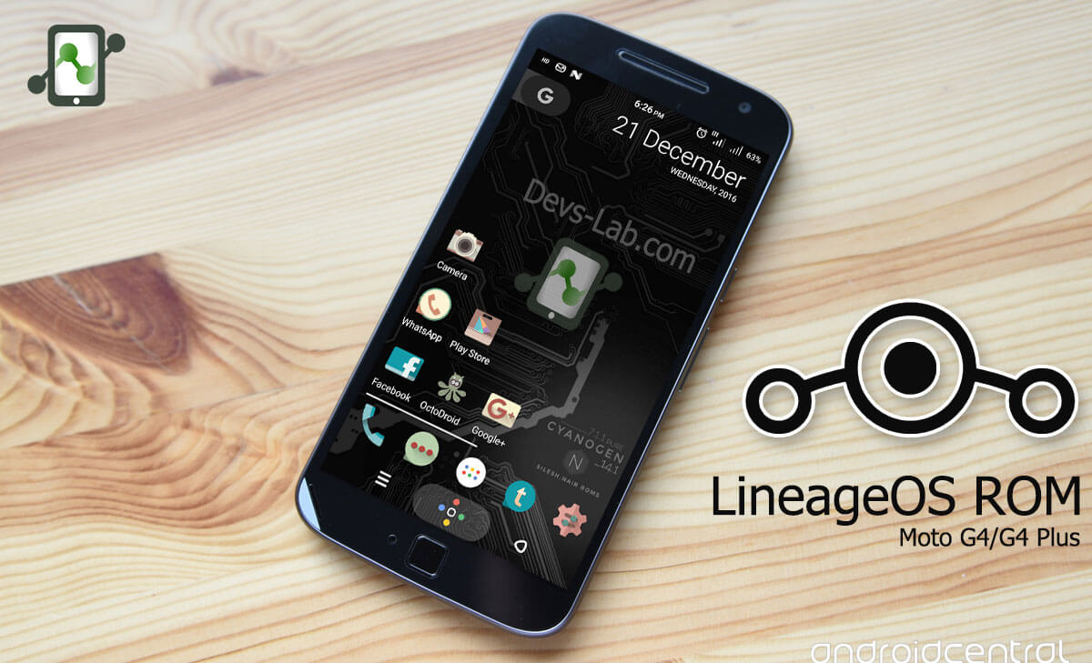LineageOS ROM for Motorola Moto G4 and G4 Plus
