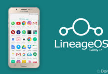 LineageOS ROM for Samsung Galaxy J7