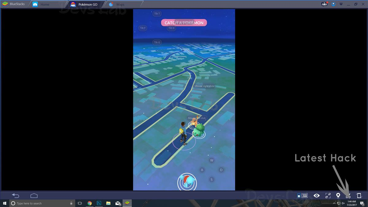 Playing Pokemon GO on PC using Android Emulator BlueStacks Memu and Nox Player
