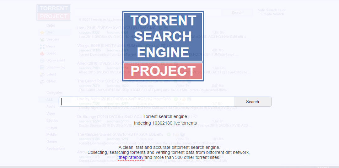 extra torrent search engine software