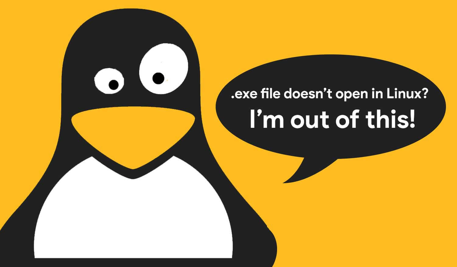 When .exe file doen't work in Linux OS