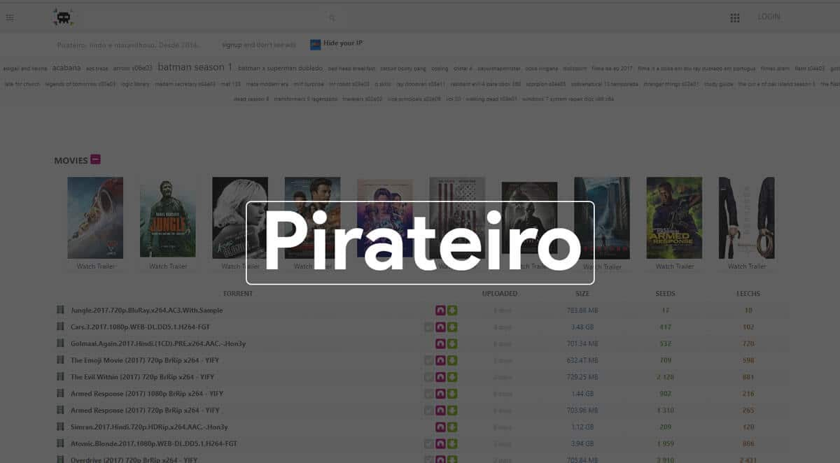 pirateiro best Torrent search Engine 2017