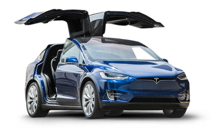 Tesla Model X Gull wing Doors