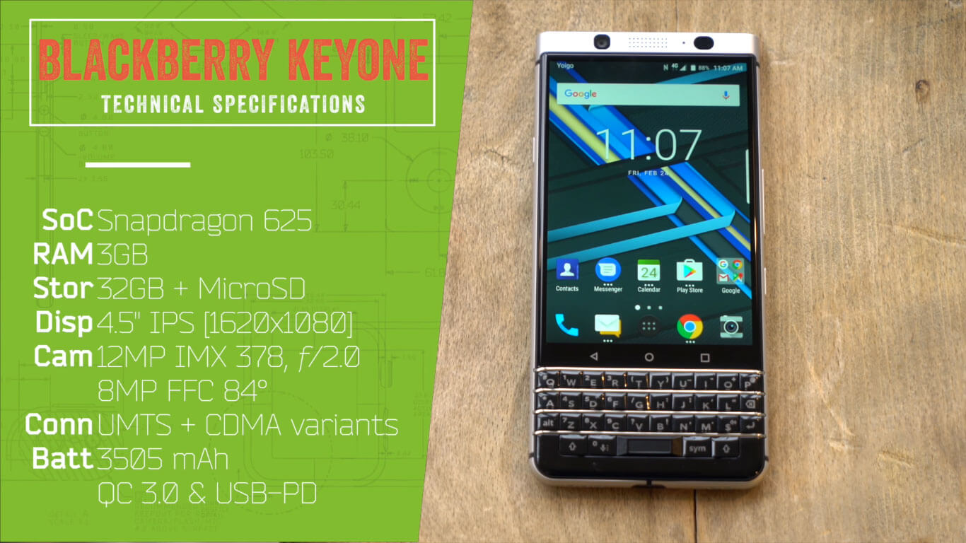 Blackberry Keyone Specifications