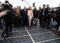Inauguration Of the French Solar Road.
