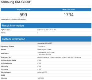 GeekBench-Xcover 4