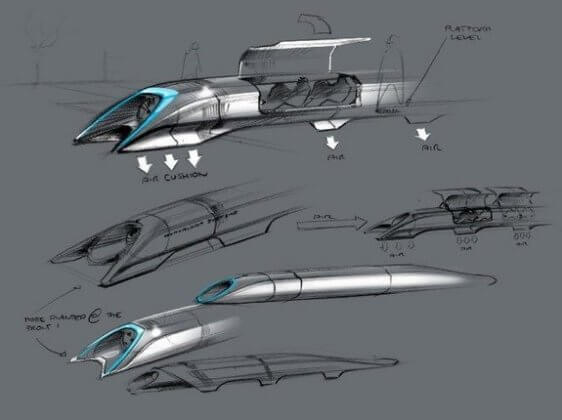 Initial Conceptual Sketches of hyperloop.