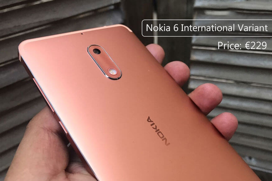 Nokia 6 International variant