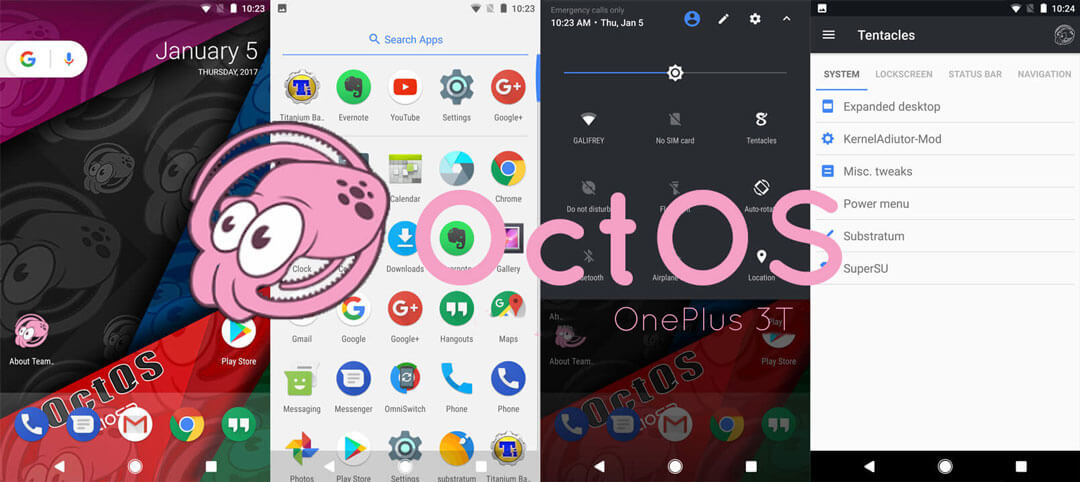OctOS ROM for OnePlus 3T - Best ROMs for OnePlus 3T