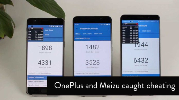 OnePlus 3T and Meizu caught cheating benchmarking Apps