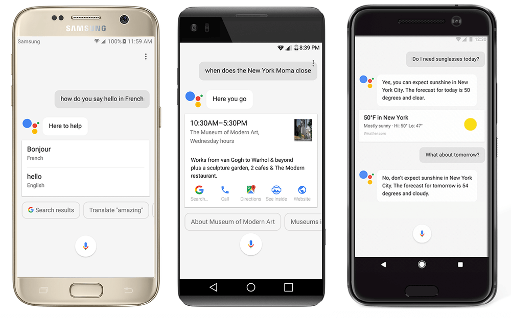 Phones with Google Assistant