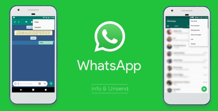 WhatsApp new Status Info and unsend feature rolling out officially