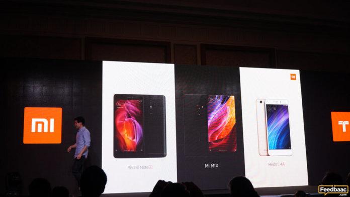 Xiaomi Dubai launch of Mi Mix, Redmi Note 4 and Redmi 4A