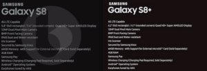 S8-specifications