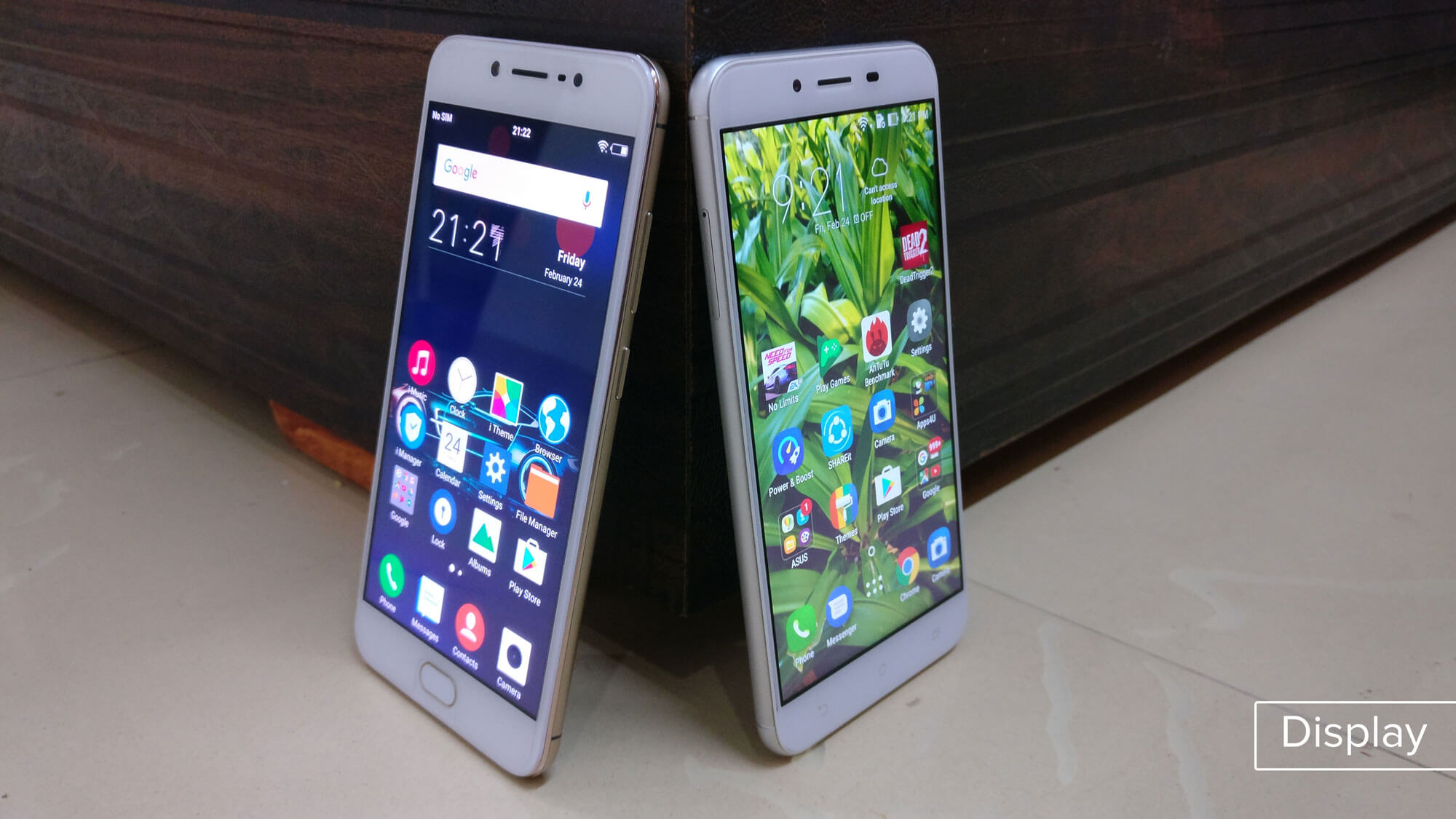 Asus Zenfone 3 Max vs Vivo V5 Display comparison review