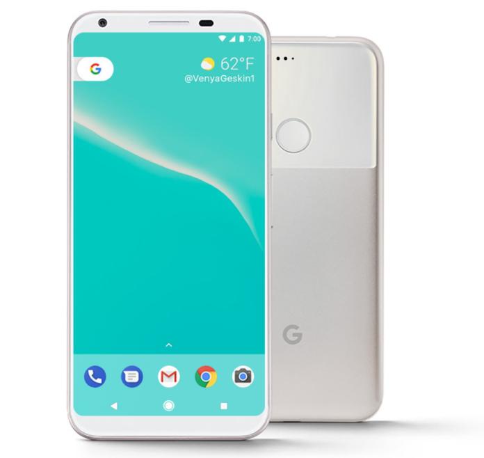 Google Pixel 2 render