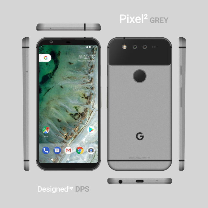 Google Pixel 2 renders by DPS