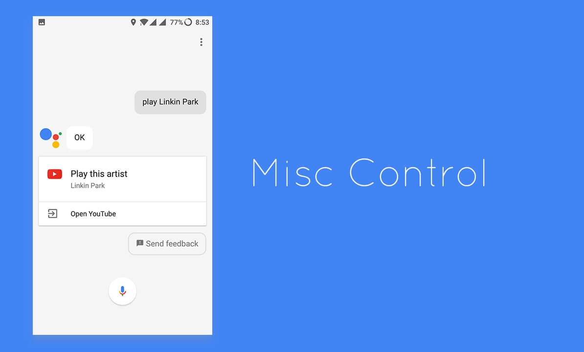 Misc Control using Google Assistant