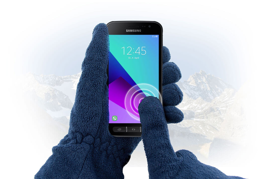 Samsung Galaxy Xcover 4 is fully usable with gloves
