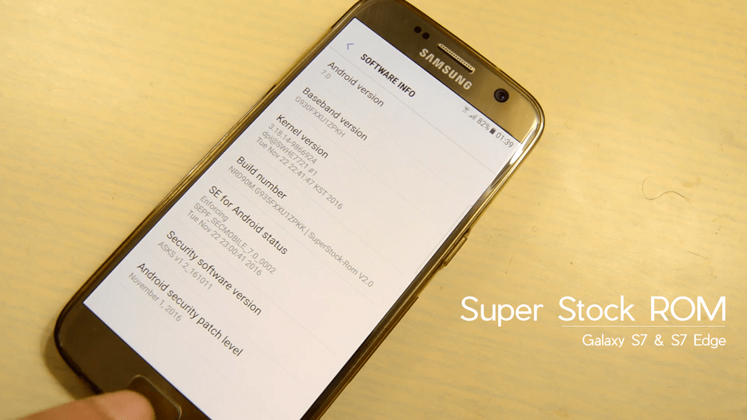 Super Stock ROM for Galaxy S7