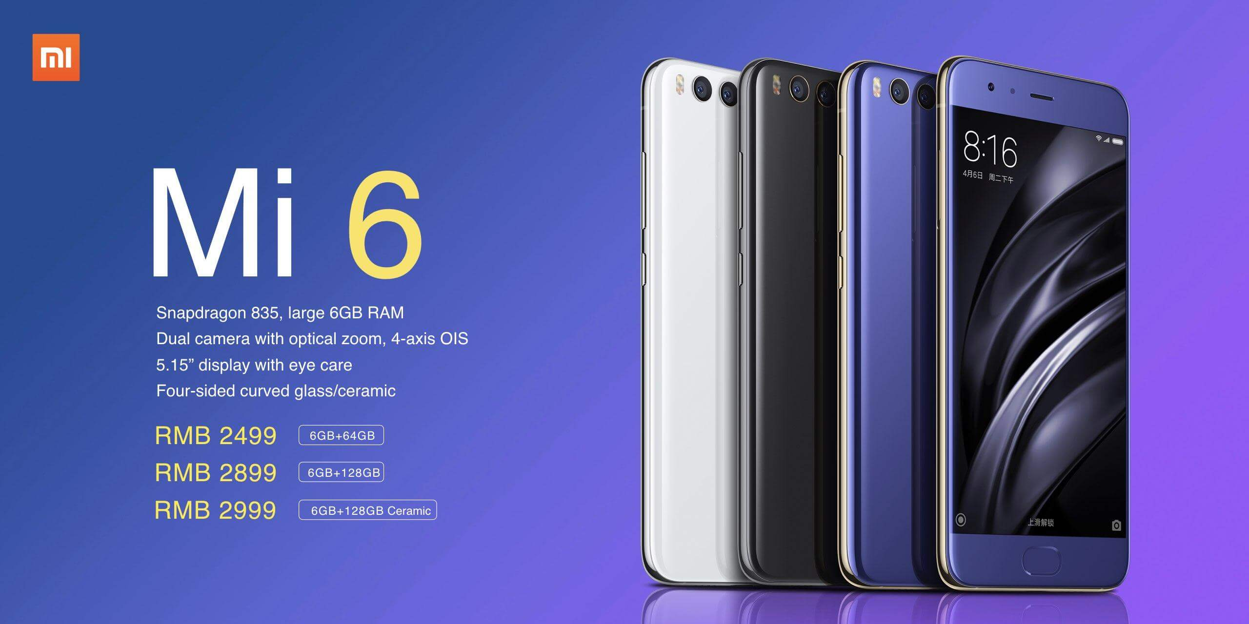 Xiaomi Mi 6_price official