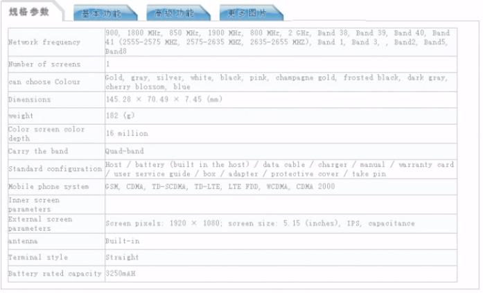 Xiaomi Mi6 color options