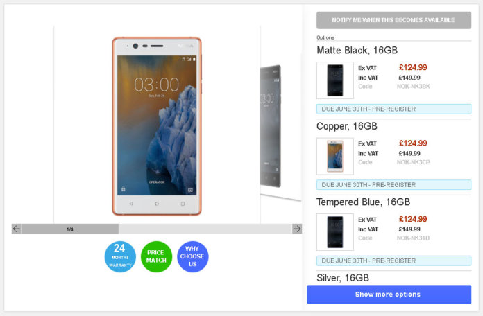 Clove stops taking pre-orders of Nokia 3, 5 and 3310