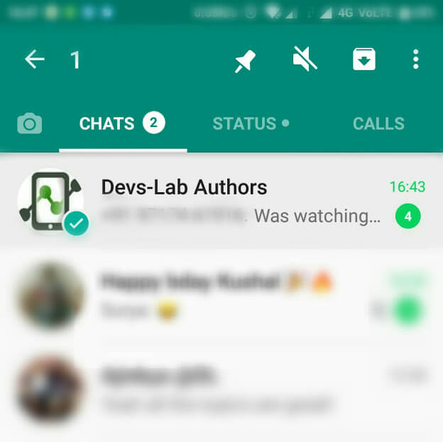 WhatsApp introduced a new feature of pinning your favorite chats.