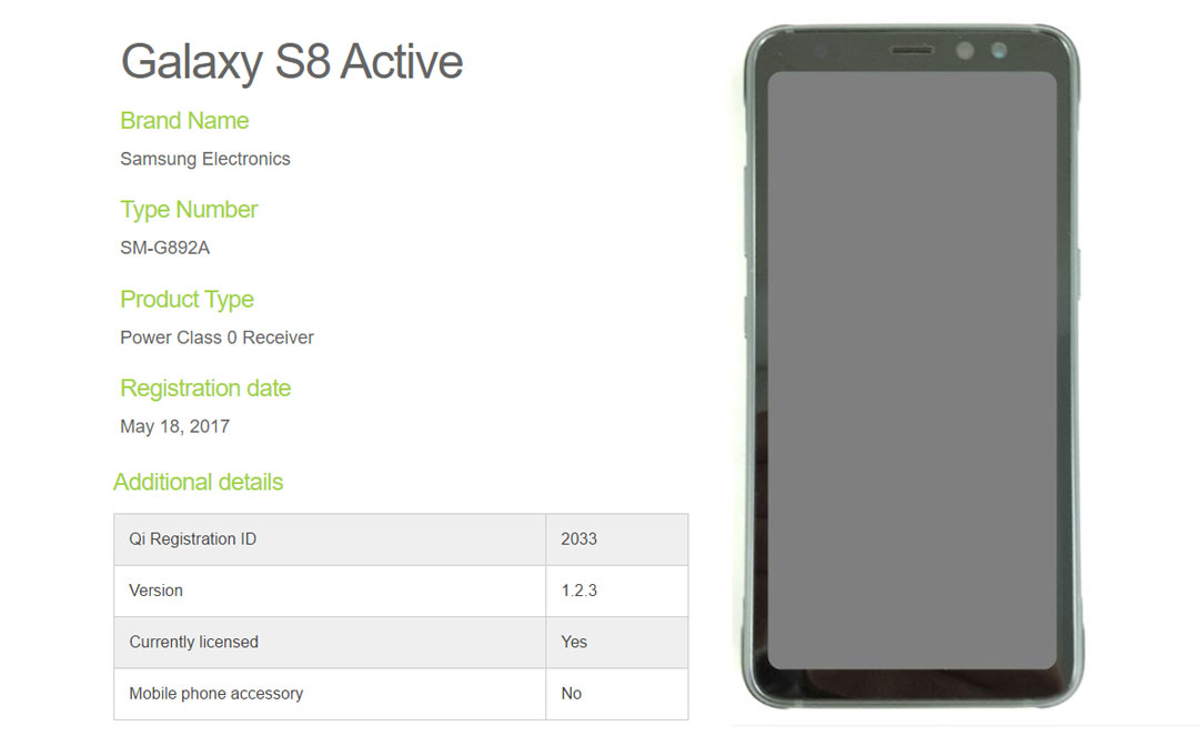Galaxy S8 Active reveals a rugged body but with a non edge ...