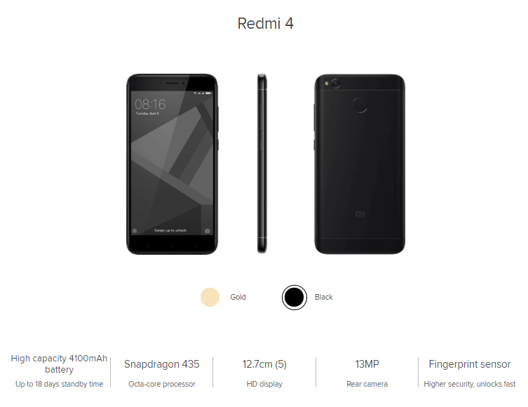Xiaomi Redmi Note 4 Specifications