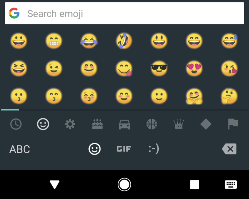 Android O redesigned emojis