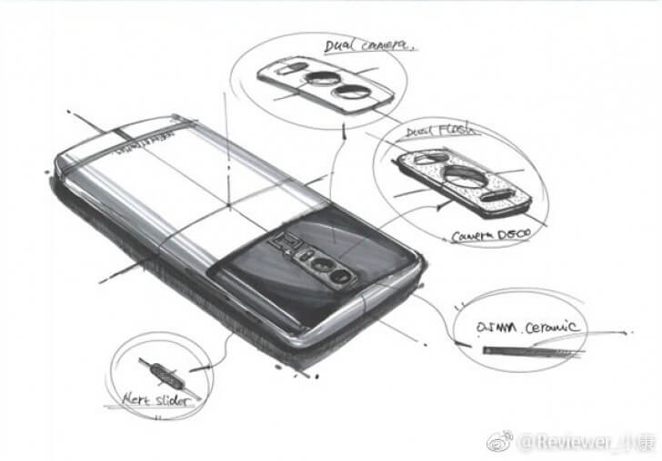 OnePlus 5 leaked sketches