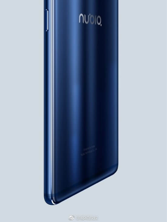 ZTE Nubia Z17 back leak render