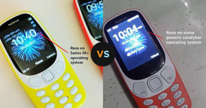 How to spot a fake Nokia 3310 from design (2018)