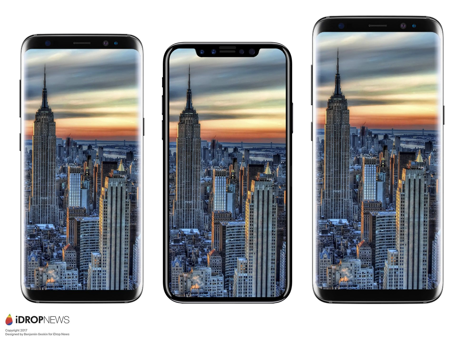 iPhone 8 vs. Samsung Galaxy S8 and S8+