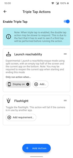 Double Tap-to-Back Gestures Android 12