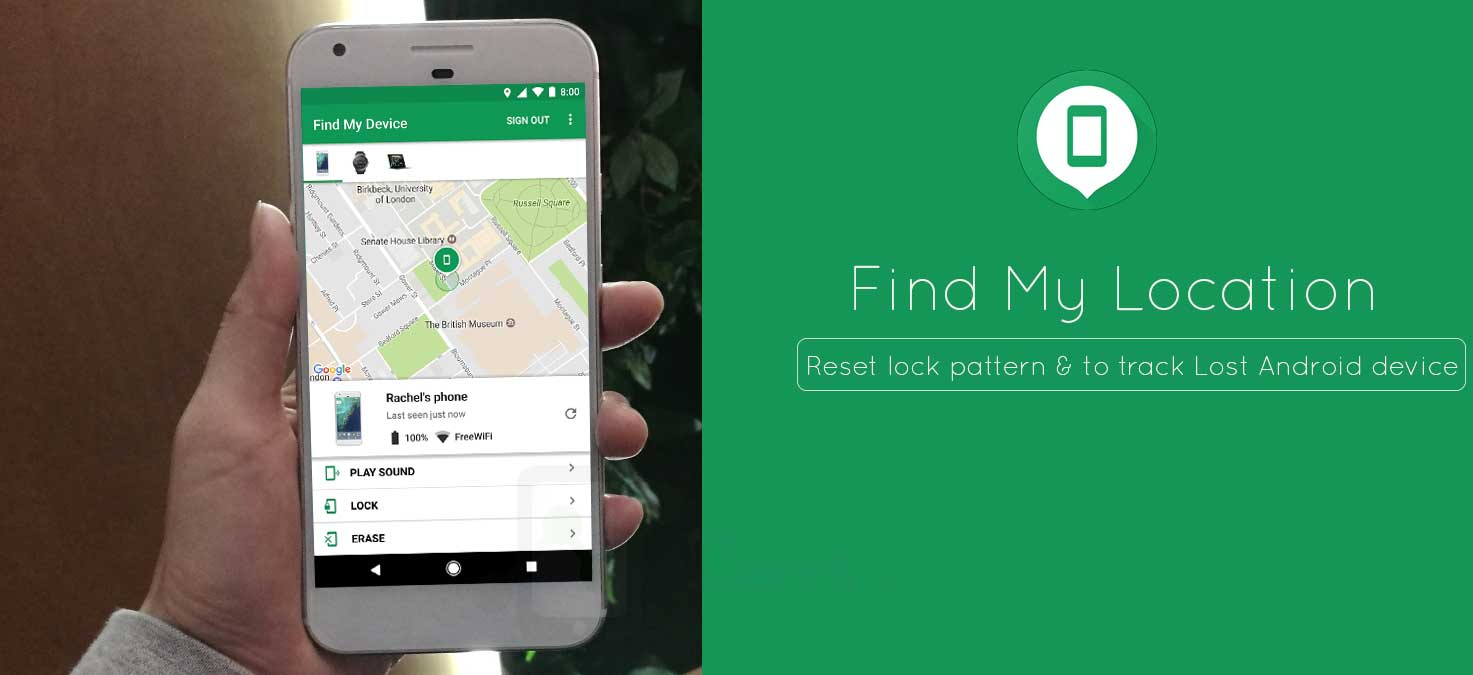 How to setup Google Find my location to track, erase and ring lost Android