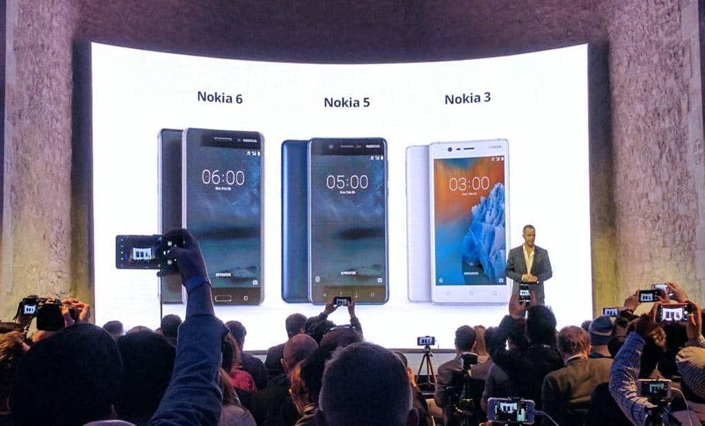 NOKIA 6, 5, 3 HMD Global launch