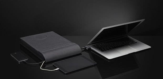 LAER, a laptop sleeve that can power your laptop and charge your smartphone.