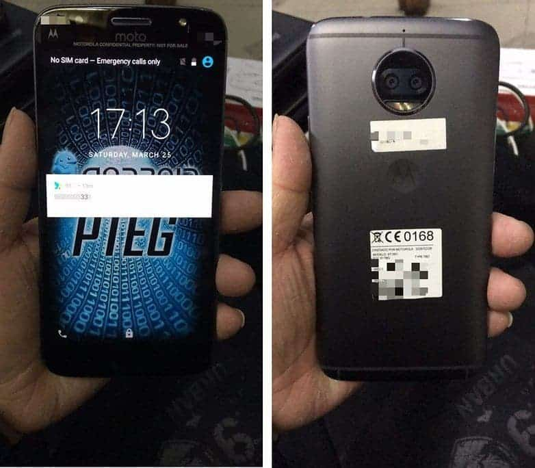 Alleged leaked image of the MOTO X4