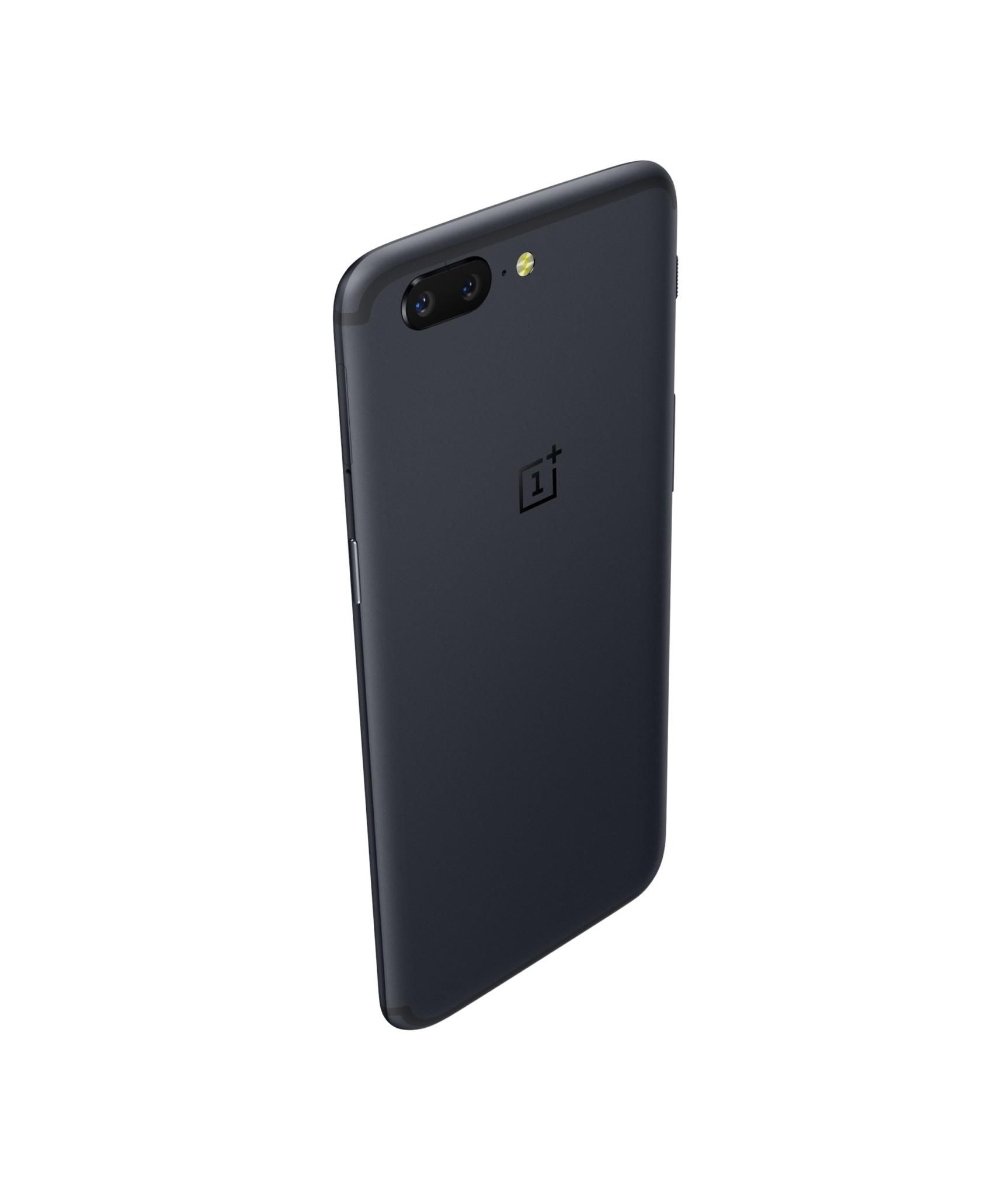 The OnePlus 5 vertical rear profile Never Settle