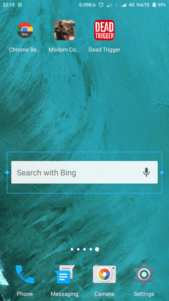 New search widget in Chrome Beta